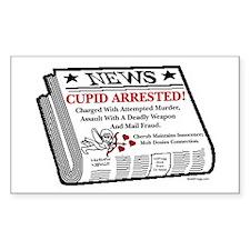 oddFrogg Cupid Arrested Decal