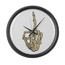 Skeleton Middle Finger Large Wall Clock