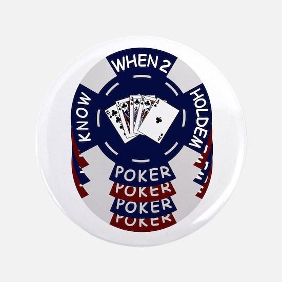 "Holdem Poker Chips 3.5"" Button"