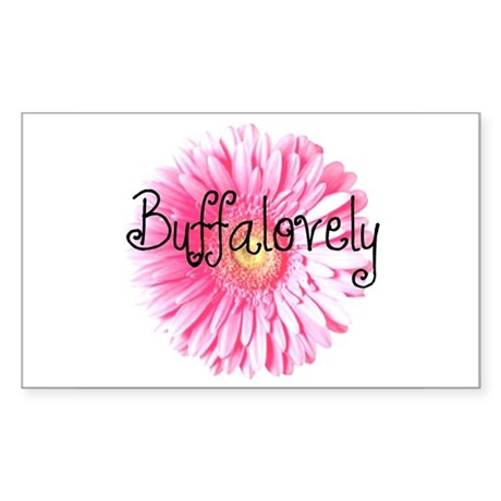 Buffalovely Gerber Daisy Rectangle Sticker