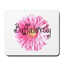 Buffalovely Gerber Daisy Mousepad