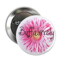 "Buffalovely Gerber Daisy 2.25"" Button"
