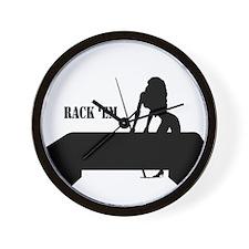 RACK 'EM Wall Clock