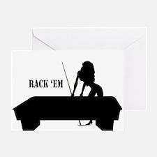 RACK 'EM Greeting Card
