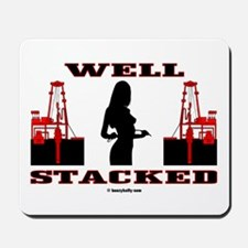 Well Stacked Mousepad, Oil Rigs, Oil Wells,