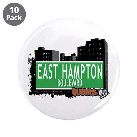 "EAST HAMPTON BOULEVARD, QUEENS, NYC 3.5"" Button (1"