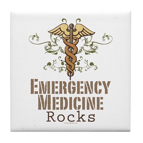 Emergency Medicine Rocks ER Doc Tile Coaster