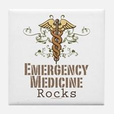 Emergency Medicine Rocks ER Doc Tile Coaster