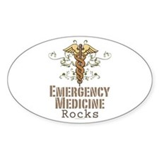 Emergency Medicine Rocks ER Doc Oval Decal