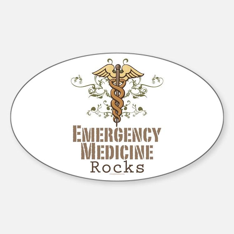 Emergency Medicine Rocks ER Doc Oval Decal