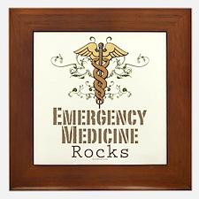 Emergency Medicine Rocks ER Doc Framed Tile