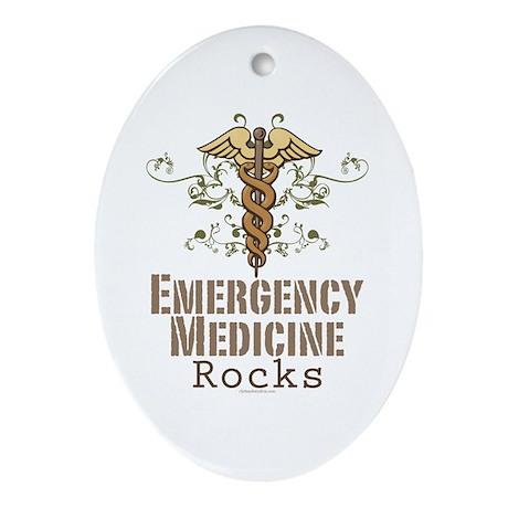 Emergency Medicine Rocks ER Doc Oval Ornament