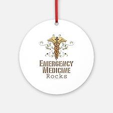 Emergency Medicine Rocks ER Doc Ornament (Round)