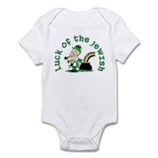Luck of the Jewish Leprechaun Infant Bodysuit