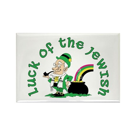 Luck of the Jewish Leprechaun Rectangle Magnet