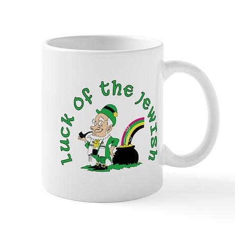 Luck of the Jewish Leprechaun Mug