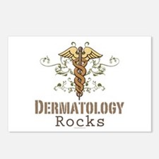 Dermatology Rocks Caduceus Postcards (Package of 8