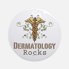 Dermatology Rocks Caduceus Ornament (Round)