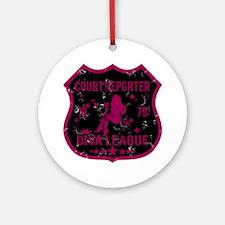 Court Reporter Diva League Ornament (Round)