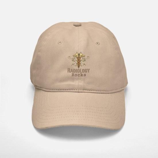 Radiology Rocks Caduceus Baseball Baseball Cap