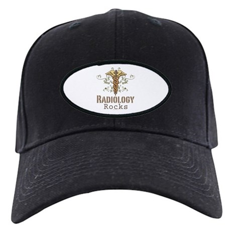 Radiology Rocks Caduceus Black Cap