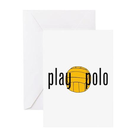 play polo Greeting Card