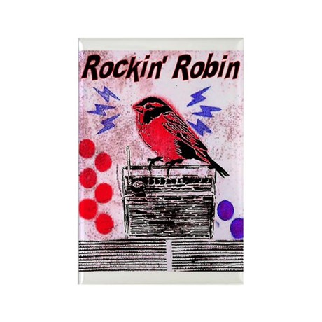 ROCKIN' ROBIN Rectangle Magnet (10 pack)