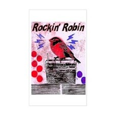 ROCKIN' ROBIN Rectangle Decal