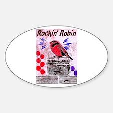 ROCKIN' ROBIN Oval Decal