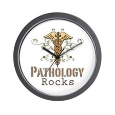Pathology Rocks Caduceus Wall Clock