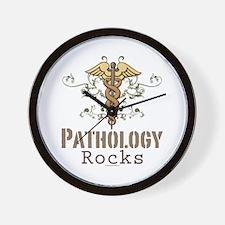 Pathology Rocks Caduceus Wall Clock