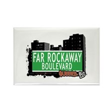 FAR ROCKAWAY BOULEVARD, QUEENS, NYC Rectangle Magn