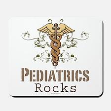 Pediatrics Rocks Caduceus Mousepad