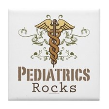 Pediatrics Rocks Caduceus Tile Coaster