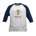 Surgery Rocks Caduceus Kids Baseball Jersey