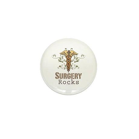 Surgery Rocks Caduceus Mini Button (10 pack)