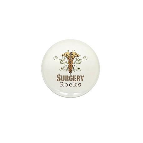 Surgery Rocks Caduceus Mini Button