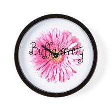 Buffalovely Gerber Daisy Wall Clock