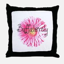 Buffalovely Gerber Daisy Throw Pillow