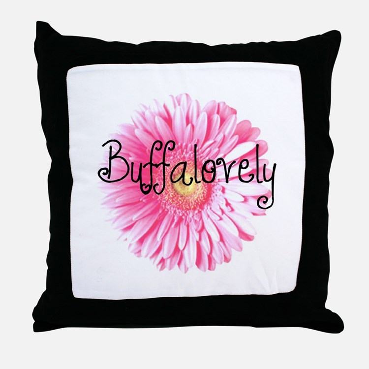 Buffalovely Gerber Daisy Throw Pillow