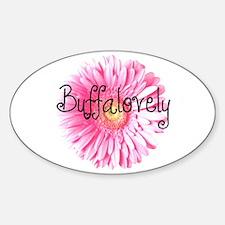 Buffalovely Gerber Daisy Oval Decal