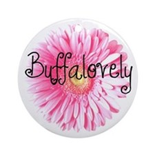 Buffalovely Gerber Daisy Ornament (Round)