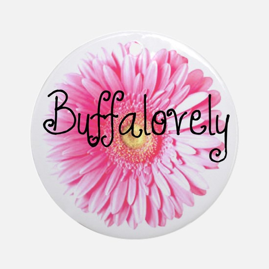 Buffalovely Gerber Daisy Ornament (Round)
