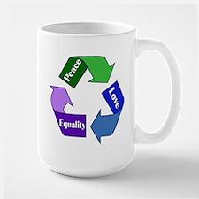Peace Love Equality Mug