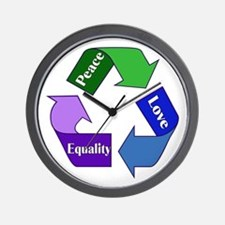 Peace Love Equality Wall Clock