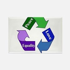 Peace Love Equality Rectangle Magnet (100 pack)
