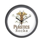 Plastics Rocks Caduceus Wall Clock
