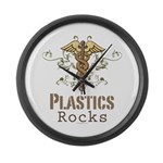 Plastics Rocks Caduceus Large Wall Clock
