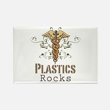 Plastics Rocks Caduceus Rectangle Magnet
