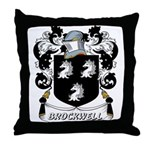 Brockwell Coat of Arms Throw Pillow